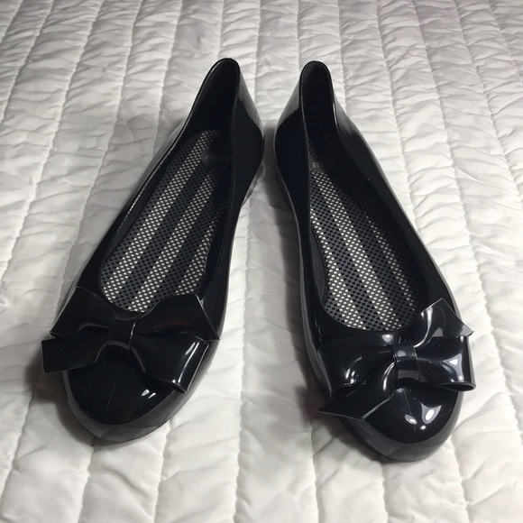 67fd5839be0 mel by melissa black jelly flats size 8 US